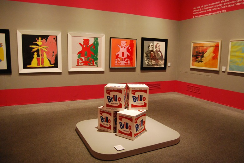 Allestimento Mostra Warhol Genova