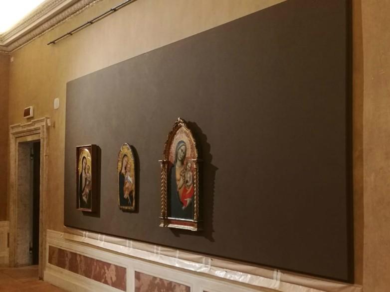 allestimento mostra palazzo barberini roma