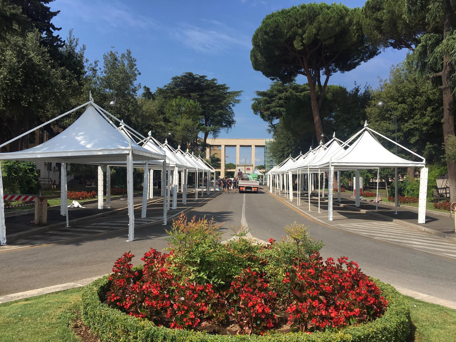 porte aperte Sapienza Univeristà di Roma - allestimento