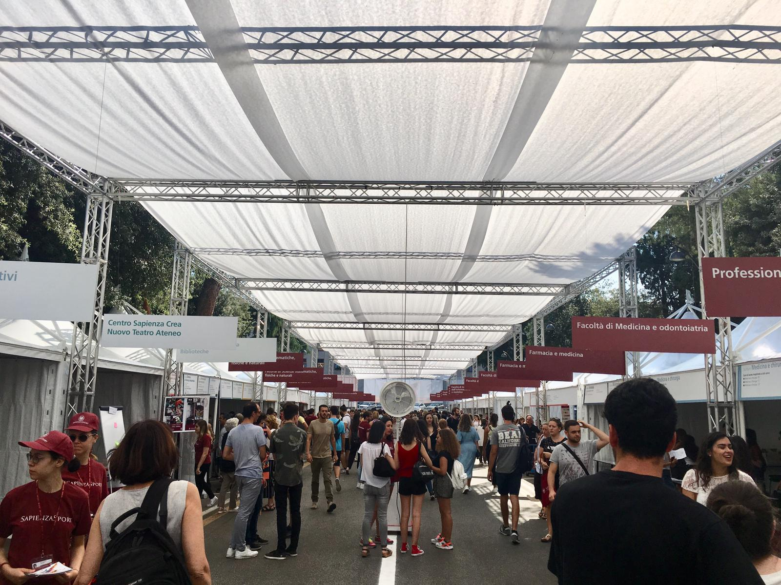 Porte aperte alla Sapienza di Roma, allestimento